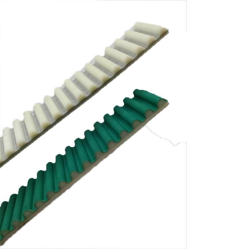 白色聚氨酯加绿色齿面布